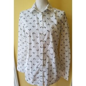 Banana Republic Floral Riley Button Down Shirt